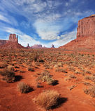 The famous cliffs Mittens in Monument Valley Royalty Free Stock Photos