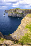 Famous cliffs of Moher with tower. Ireland Stock Photos