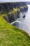 Famous cliffs of Moher with tower. Ireland Stock Photo