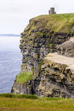 Famous cliffs of Moher with tower. Ireland Stock Image