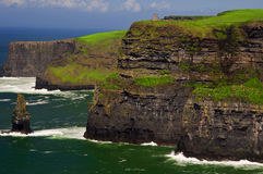 Famous cliffs of moher on west coast of ireland Royalty Free Stock Photography