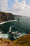 Famous cliffs of moher on west coast of ireland Stock Photography
