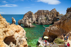 Famous cliffs of Ponta de Piedade Stock Photography