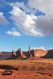 The famous cliffs of various forms of Monument Valley Stock Photos
