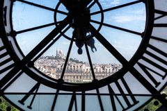 Famous clock in the Orsay Museum Royalty Free Stock Images