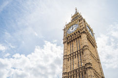 The famous clock tower Bigben Stock Photos
