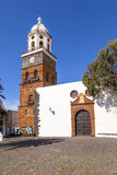 Famous clock tower and church of Nuestra Senora de Guadalupe in Teguise Royalty Free Stock Photos