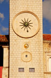 Famous Clock Tower Of Dubrovnik(Croatia) Royalty Free Stock Images