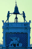 The famous clock tower, Torre dell'Orologio, of San Marco's square Royalty Free Stock Photos