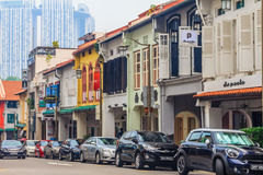 Famous Club street in Singapore Stock Photo