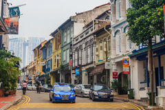 Famous Club street in Singapore Stock Images
