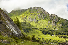 The famous Col d'Aubisque. High mountains on the col d'Aubisque Royalty Free Stock Photos