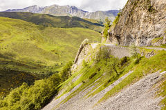 The famous Col d`Aubisque. One of the nicest roads in France Stock Photos