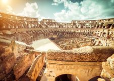 Famous  Coliseum interior Stock Photos
