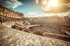 Famous  Coliseum interior Stock Photo