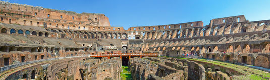 The famous Coliseum in Rome. Royalty Free Stock Images
