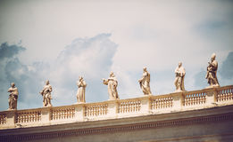 Famous colonnade of St. Peter's Basilica in Vatican, Rome, Italy Stock Photography