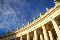 Famous colonnade of St. Peter`s Basilica in Vatican, Rome, Italy Stock Photos