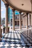 Famous Colonnade of Theater Solis, Montevideo, Uruguay. MONTEVIDEO, URUGUAY, OCTOBER 8 - Famous Colonnade in Neoclassicism architecture of Theatre Solis in Royalty Free Stock Photos