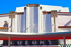 Famous Colony Art Deco Theater im royalty free stock photography