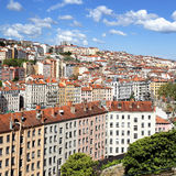Famous colored Lyon district Royalty Free Stock Images