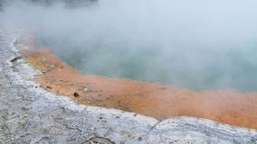 Champagne Pool in Wai-O-Tapu Thermal Wonderland, Rotorua, New Zealand royalty free stock image