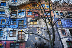 Famous colorful Hundertwasser house in Vienna Stock Photography