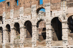 Famous colosseum on bright Stock Image