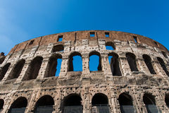 Famous colosseum on bright Stock Photography
