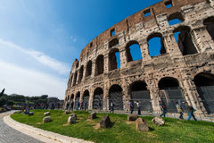 Famous colosseum on bright Royalty Free Stock Image