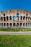 Famous colosseum on bright Royalty Free Stock Photos