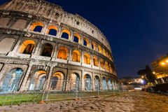 Famous colosseum during evening. Hours Stock Photography