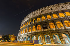 Famous colosseum during evening. Hours Royalty Free Stock Photos