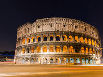 Famous colosseum during. Evening hours Royalty Free Stock Photo