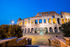 Famous colosseum during evening hours. Famous colosseum during  evening hours Stock Images