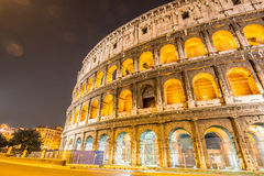 Famous colosseum during evening hours Royalty Free Stock Image