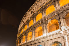 Famous colosseum during evening hours Stock Photography