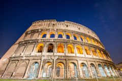 Famous colosseum during evening hours. Famous colosseum durin theg evenin theg hours Stock Image