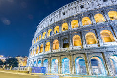 Famous colosseum during evening hours Stock Photo