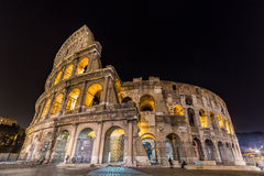 The famous Colosseum at night in Rome, Italy Royalty Free Stock Image