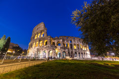 The famous Colosseum at night in Rome, Italy Royalty Free Stock Photography
