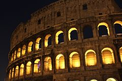 The famous Colosseum in Rome Royalty Free Stock Images