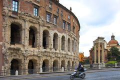 Famous Colosseum in Rome, Ital Stock Photos