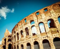 Famous  Colosseum in Rome Stock Photos