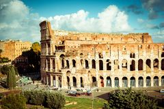 Famous Colosseum in Rome Royalty Free Stock Images