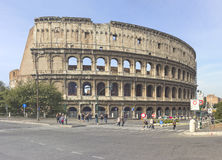Famous Colosseum in Rome. Ruins of the Colloseum in Rome, Italy Stock Images