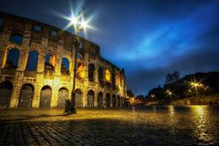 Colosseum at Night Royalty Free Stock Images