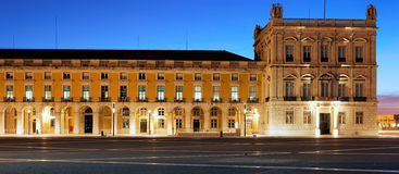 Famous commerce square at Lisbon by night Stock Photo