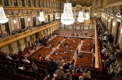 Famous concert room in Vienna Royalty Free Stock Image