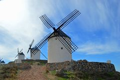 Famous Consuegra Windmills stock photography